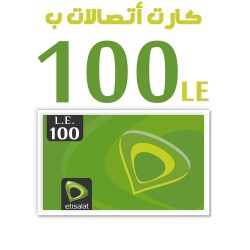 Etisalat recharge card 100LE