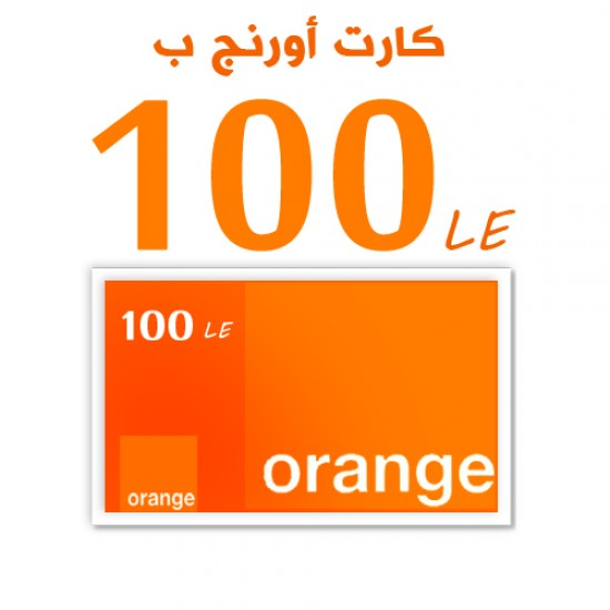 Orange recharge card 100 LE