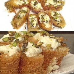 Dawod Sweets  _  maghshusha with cream and pistachios