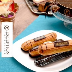 Exception Patisserie _  A piece of Gateau Eclair Caramel