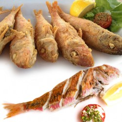 Alrahma Fish  _  ( Red mullets )  - Fried - grilled butter - oil and lemon