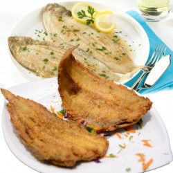 EL Menshawy Fishes _  ( Sole Fish )  - Fried - grilled with butter - oil and lemon