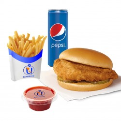 Bondok - Kid's Meal Chicken Fillet -Fillet Sandwich + Potato + Pepsi