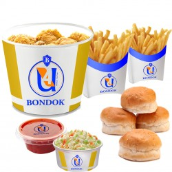 Bondok - Bondok Meal (8 pieces +  2 potato +  Coleslaw +4 buns + ketchup)