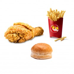 Mr. Crispy _ 20 pieces of family strips meal _ 20 pieces of boneless chicken fillet (Tender) + family size fries + 2 coleslaw + 10 bread + liter Peps